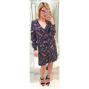 Rebecca Taylor Midnight Floral Shirtdress